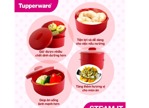XỬNG HẤP STEAM IT TUPPERWARE